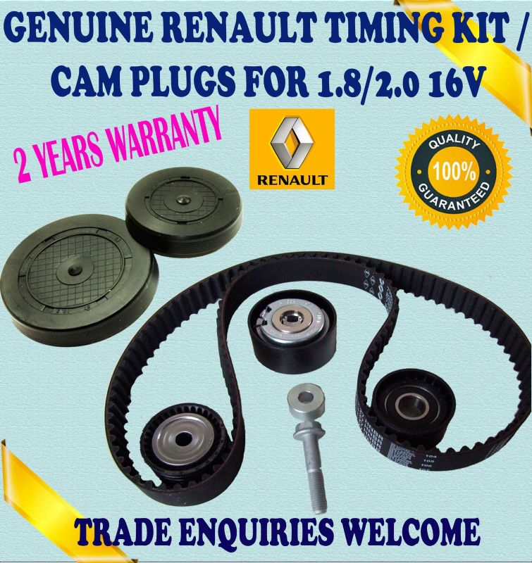 For RENAULT MEGANE I SCENIC I 1.8 2.0 TIMING BELT TENSIONER IDLER KIT & CIRE PLUGS